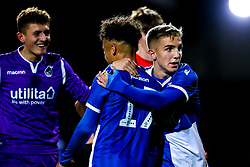 Kieran Phillips of Bristol Rovers celebrates victory over Swindon Town - Mandatory by-line: Robbie Stephenson/JMP - 29/10/2019 - FOOTBALL - County Ground - Swindon, England - Swindon Town v Bristol Rovers - FA Youth Cup Round One
