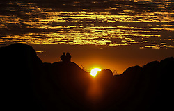 October 2, 2016 - Los Angeles, California, U.S - The sun rises at the Joshua Tree National Park in Twentynine Palms, California, October 2, 2016. (Credit Image: © Ringo Chiu via ZUMA Wire)