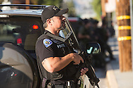 Shooting in San Bernardino.<br /> San Bernardino area law enforcement set up a south flank to contain the shooters who just engaged them.