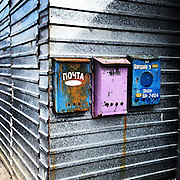 Mailboxes on a building in a residential neighborhood near Olympic Park on Friday, Feb. 14, 2014. Photographed during the Winter Olympics in Sochi, Russia with an iPhone and Instagram. (Brian Cassella/Chicago Tribune) B583527420Z.1 <br /> ....OUTSIDE TRIBUNE CO.- NO MAGS,  NO SALES, NO INTERNET, NO TV, CHICAGO OUT, NO DIGITAL MANIPULATION...