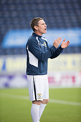 Falkirk's manager Peter Houston . Falkirk 3 v 1 East Fife, Petrofac Training Cup played 25th July 2015 at The Falkirk Stadium.