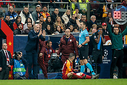 November 26, 2019, Galatasaray, TURKEY: Club Brugge's head coach Philippe Clement receives a yellow card from the referee during a game between Turkish club Galatasaray and Belgian soccer team Club Brugge, Tuesday 26 November 2019 in Istanbul, Turkey, fifth match in Group A of the UEFA Champions League. BELGA PHOTO BRUNO FAHY (Credit Image: © Bruno Fahy/Belga via ZUMA Press)