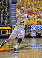 WICHITA, KS - JANUARY 18:  Guard Fred VanVleet #23 of the Wichita State Shockers passes the ball up court against the Indiana State Sycamores during the first half on January 18, 2014 at Charles Koch Arena in Wichita, Kansas.  (Photo by Peter G. Aiken/Getty Images) *** Local Caption *** Fred VanVleet
