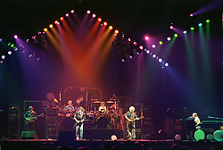 The Grateful Dead perfoming Playing in the Band at the Nassau Coliseum, Uniondale NY, 30 March 1990. Wide Lighting Look Image Capture.