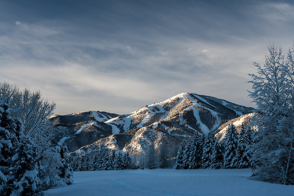 Open Edition Fine Art Photograph New Year's Day begins with a Beautiful Sunrise on the Nordic Track in Sun Valley, Idaho