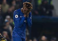 Football - 2019 / 2020 Premier League - Chelsea vs. Arsenal<br /> <br /> Tammy Abraham (Chelsea FC) reacts after Arsenal equalize at Stamford Bridge <br /> <br /> COLORSPORT/DANIEL BEARHAM