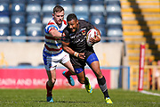 Bradford Bulls Jonathon Campbell (19) breaks free during the Kingstone Press Championship match between Rochdale Hornets and Bradford Bulls at Spotland, Rochdale, England on 18 June 2017. Photo by Simon Davies.