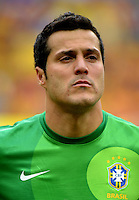 Fifa Brazil 2013 Confederation Cup / Group A Match /<br /> Brazil vs Japan 3-0  ( National / Mane Garrincha Stadium - Brasilia , Brazil )<br /> JULIO CESAR of Brazil , during the match between Brazil and Japan