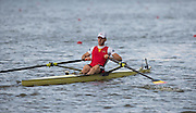 Amsterdam. NETHERLANDS. BEL M1X. Hannes OBRENO. De Bosbaan Rowing Course, venue for the 2014 FISA  World Rowing. Championships. 10:33:24  Sunday  31/08/2014.  [Mandatory Credit; Peter Spurrier/Intersport-images]