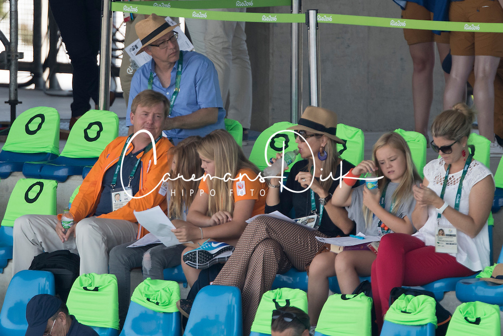 King Willem Alexander of Holland, Queen Maxima, children, Amalia, Alexia, Ariane<br /> Olympic Games Rio 2016<br /> © Hippo Foto - Dirk Caremans<br /> 17/08/16