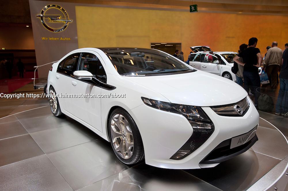 Opel Ampera electric car at Paris Motor Show 2010
