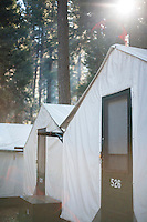 Tent cabins in Curry Village in Yosemite National Park, Ca.