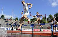 Friidrett<br /> 21. Juni 2009<br /> European Team Championships 1. st Leauge<br /> Fana Stadion<br /> 3000 meter hinder<br /> Bostjan Buc , Slovenia<br /> Jukka Keskisalo , Finland<br /> Foto : Astrid M. Nordhaug