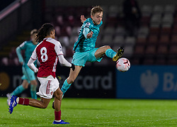 LONDON, ENGLAND - Friday, October 30, 2020: Liverpool's Jake Cain during the Premier League 2 Division 1 match between Arsenal FC Under-23's and Liverpool FC Under-23's at Meadow Park. Liverpool won 1-0. (Pic by David Rawcliffe/Propaganda)