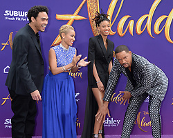 Aladdn World Premiere. 21 May 2019 Pictured: Willow Smith, Will Smith Jada Pinkett Smith. Photo credit: MEGA TheMegaAgency.com +1 888 505 6342