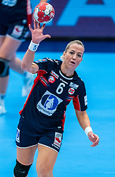 Heidi Loke of Norway in action during the Women's EHF Euro 2020 match between Netherlands and Norway at Sydbank Arena on december 10, 2020 in Kolding, Denmark (Photo by RHF Agency/Ronald Hoogendoorn)