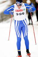 Langrenn NM junior i Stokke , 21. Februar 2008 , 15km klassisk for menn 18 år , Edvard Hamilton fra NTG-L/Sør-Fron IL Ski , Foto: Thomas Andersen , Digitalsport