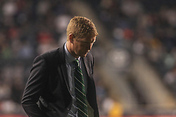 April 14, 2017 - Chester, PA, United States of America - Philadelphia Union Manager JIM CURTIN walks off the field in the first half of a Major League Soccer match between the Philadelphia Union and New York City FC Friday, Apr. 17, 2016 at Talen Energy Stadium in Chester, PA. (Credit Image: © Saquan Stimpson via ZUMA Wire)