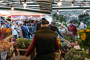Columbia Road Flower Market on the 6th October 2019 in London in the United Kingdom. Columbia Road Flower Market is a street market in Bethnal Green in Hackney, London. The market is open on Sundays only.