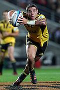 Hurricanes' TJ Perenara. Super Rugby rugby union match, Chiefs v Hurricanes at Waikato Stadium, Hamilton, New Zealand. Saturday 28th April 2012. Photo: Anthony Au-Yeung / photosport.co.nz