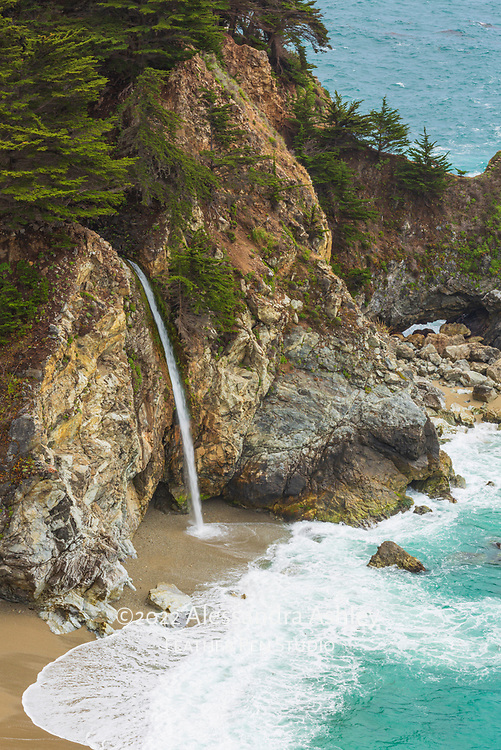 The surreal beauty of McWay Falls on the Big Sur coastline, California. Image placed as semifinalist in 2021 NANPA Showcase.