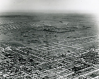 1924 Aerial looking SW from Sunset Blvd. & Vine St. at Ranch La Brea Oil Co. (center of photo).