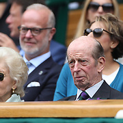 LONDON, ENGLAND - JULY 16: The Duke of Kent at the Mens Singles Final between Roger Federer of Switzerland and Marin Cilic of Croatia during the Wimbledon Lawn Tennis Championships at the All England Lawn Tennis and Croquet Club at Wimbledon on July 16, 2017 in London, England. (Photo by Tim Clayton/Corbis via Getty Images)