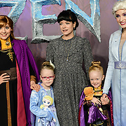 Lily Allen and daughters Marnie Rose Cooper and Ethel Cooper attend European Premiere of Frozen 2 on 17 November 2019, BFI Southbank, London, UK.
