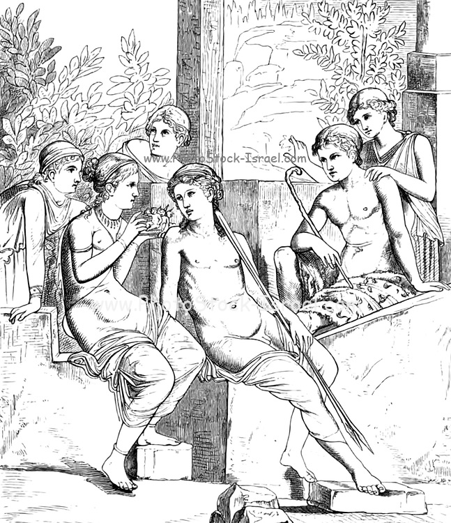 A Pompeian painting of Hellenic style, as an example of Greek drawing and composition From the book ' Illuminated manuscripts in classical and mediaeval times : their art and their technique ' by Middleton, J. H. (John Henry), 1846-1896 Published in 1892