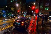 Rainy evening, Powell Street, San Francisco, California USA
