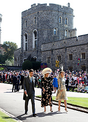 Guests arrive at St George's Chapel at Windsor Castle for the wedding of Meghan Markle and Prince Harry.
