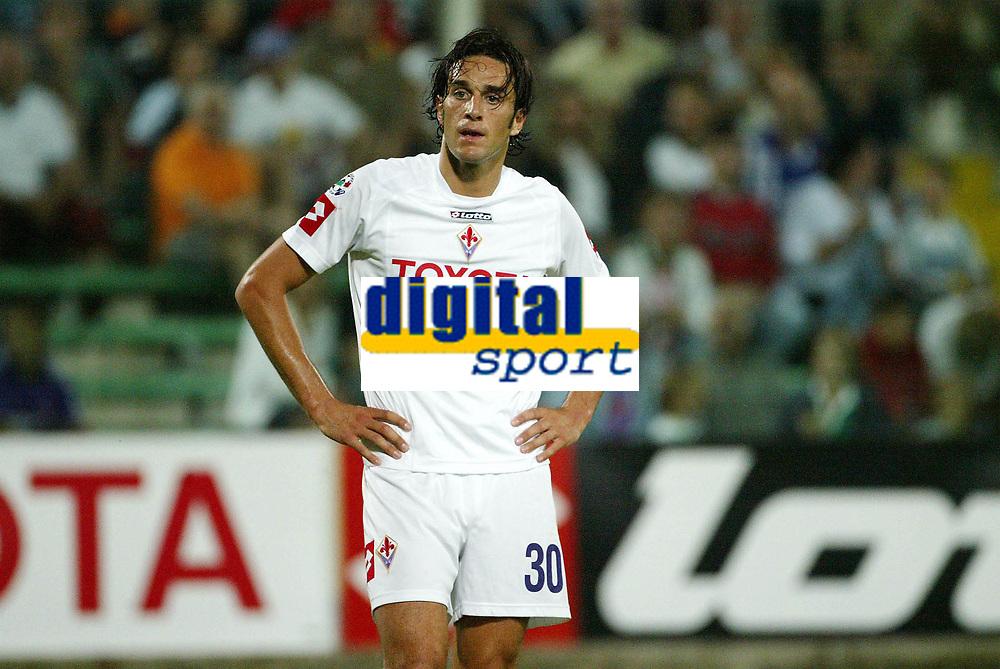 Firenze 07-08-2005<br /> Coppa Italia Tim Cup 2005-2006<br /> Fiorentina Cisco Lodigiani<br /> nella  foto Luca Toni<br /> Foto Snapshot / Graffiti