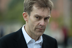 © Licensed to London News Pictures . 25/09/2016 . Liverpool , UK . SEUMAS MILNE outside the ACC conference centre in Liverpool , at the end of the first day of the Labour Party Conference . Photo credit : Joel Goodman/LNP