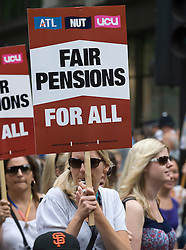 © licensed to London News Pictures.  30/06/2011. London, UK. Public sector workers and Union members demonstrate in London today (30/06/2011) against planned changes to pension plans and funding cuts. Marches are taking place across the UK.  See special instructions. Photo credit: Ben Cawthra/LNP