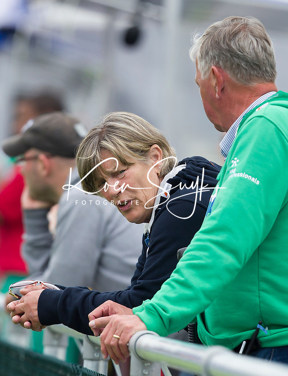 THE HAGUE - Heleen Welschen of the organsation. South Africa vs New Zealand during the Rabobank World Cup Hockey 2014. PHOTO KOEN SUYK