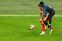 SAINT PETERSBURG, RUSSIA - JULY 10: Paul Pogba (R) of France national team and Eden Hazard of Belgium national team vie for the ball during the 2018 FIFA World Cup Russia Semi Final match between France and Belgium at Saint Petersburg Stadium on July 10, 2018 in Saint Petersburg, Russia. MB Media
