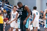THOUSAND OAKS, CA Sunday, August 12, 2018 - Nike Basketball Academy. De'Vion Harmon 2019 #12 of John H. Guyer HS rests. <br /> NOTE TO USER: Mandatory Copyright Notice: Photo by John Lopez / Nike
