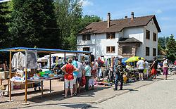 Street Market in the village of Graufthal, Alsace, France.<br /> <br /> (c) Andrew Wilson   Edinburgh Elite media