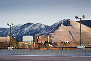 Not much snow on the sunny side of the mountains in Missoula, Montana. Missoula Photographer, Montana Photographer, Pictures of Missoula, Montana Photos