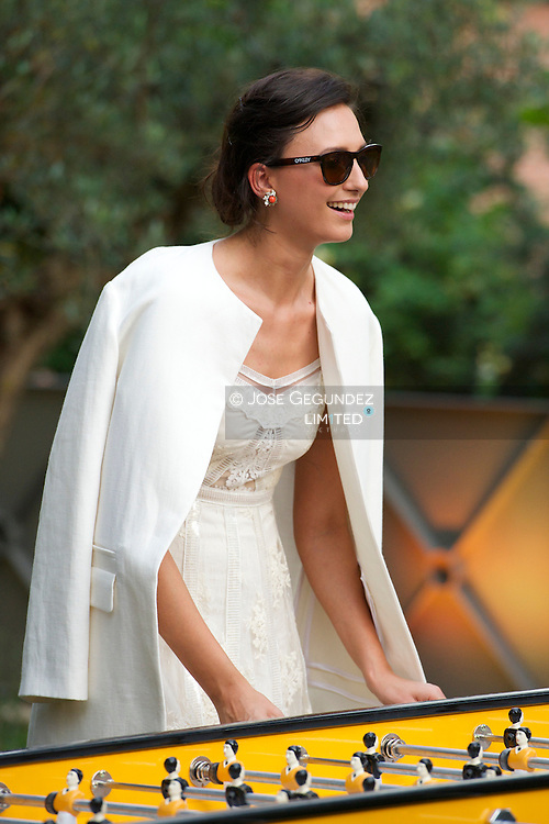 Mayte de la Iglesia attends Veuve Clicquot Sunset Pool Party on June 12, 2014 in Madrid