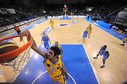 DESCRIZIONE : Porto San Giorgio Lega A 2013-14 Sutor Montegranaro Vanoli Cremona<br /> GIOCATORE : Gennaro Tessitore<br /> CATEGORIA : special tiro schiacciata<br /> SQUADRA : Sutor Montegranaro Vanoli Cremona<br /> EVENTO : Campionato Lega A 2013-2014<br /> GARA : Sutor Montegranaro Vanoli Cremona<br /> DATA : 12/01/2014<br /> SPORT : Pallacanestro <br /> AUTORE : Agenzia Ciamillo-Castoria/C.De Massis<br /> Galleria : Lega Basket A 2013-2014  <br /> Fotonotizia : Porto San Giorgio Lega A 2013-14 Sutor Montegranaro Vanoli Cremona<br /> Predefinita :