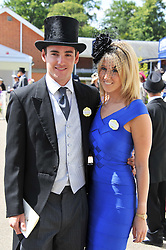 Soho heiress FAWN JAMES and NICHOLAS LAWSON at day 1 of the 2011 Royal Ascot Racing festival at Ascot Racecourse, Ascot, Berkshire on 14th June 2011.