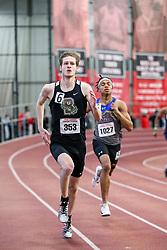 mens 400 meter, Brown, Perkins<br /> BU John Terrier Classic <br /> Indoor Track & Field Meet <br /> day 2