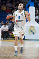 Real Madrid Facundo Campazzo during Turkish Airlines Euroleague match between Real Madrid and Anadolu Efes at Wizink Center in Madrid, Spain. January 25, 2018. (ALTERPHOTOS/Borja B.Hojas)