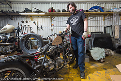 Vlad Romanov of Leecoln Hotrods in his shop after the Moscow Custom and Tuning Show. Moscow, Russia. Monday April 24, 2017. Photography ©2017 Michael Lichter.
