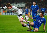 v.l. Aliaksandr Hleb Stuttgart, Frank Lampard<br /> Fu§ball Champions League VfB Stuttgart - FC Chelsea