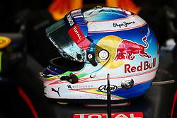 The helmet of Daniel Ricciardo (AUS) Red Bull Racing.<br /> 11.11.2016. Formula 1 World Championship, Rd 20, Brazilian Grand Prix, Sao Paulo, Brazil, Practice Day.<br /> Copyright: Batchelor / XPB Images / action press