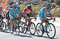 SCARPONI Michele (ITA), BOASSON HAGEN Edvald (NOR) Red Leader jersey, FUGLSANG Jakob (DEN) during the 7th Tour of Oman 2016 Cycling Tour, Stage 4, Knowledge Oasis Muscat - Jabal Al Akhdhar (Green Mountain) 1435m (177Km) on February 19, 2016 in Oman - Photo Tim De Waele / DPPI