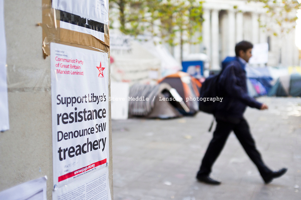Occupy London Protest outside St Pauls Cathedral, London Britain - 18th Nov 2011