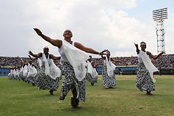 (170818) -- KIGALI, Aug. 18, 2017 (Xinhua) -- Rwandan artists dance at the Paul Kagame's inauguration ceremony in Kigali, capital of Rwanda, on Aug. 18, 2017. Paul Kagame on Friday was sworn in as president of Rwanda for his third term in Kigali. (Xinhua/Lyu Tianran) (Photo by Xinhua/Sipa USA)